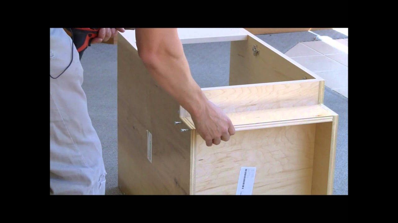 Assembly Of A Base Sink Cabinet Youtube