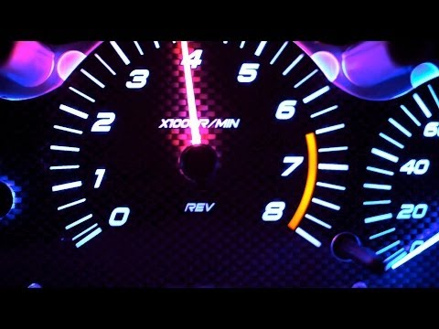350z Color Changing Needle with Custom Gauge Faces and Blue LEDs for David  #2