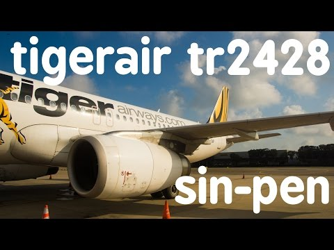 Tigerair TR2428 : Flying from Singapore to Penang