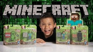 minecraft figure review creeper enderman steve zombie