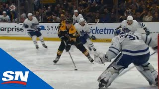 Danton Heinen Splits Leafs Defenders And Dirty Dangles In Tight