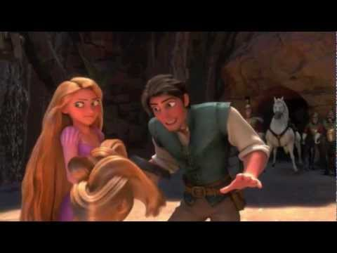 Tangled Scene Trouble At The Dam Youtube