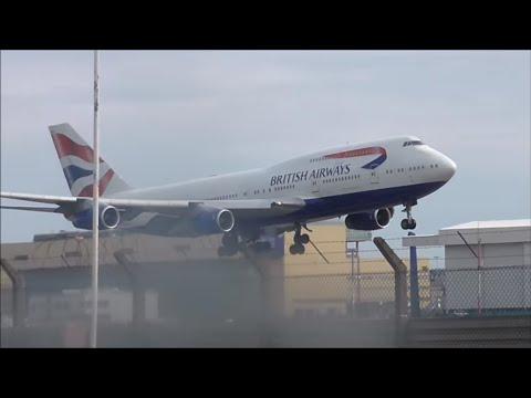 Sunny & Rainy Day Spotting at London Heathrow 02/04/16 - Part 1 (Incl. United 747 & Qantas A380)