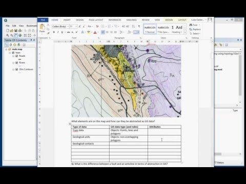 Digitising a Geological map in ArcGIS Desktop 10.3 (Part 1 of 4)