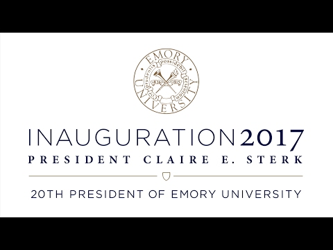 Inauguration of Claire E. Sterk 20th President of Emory University