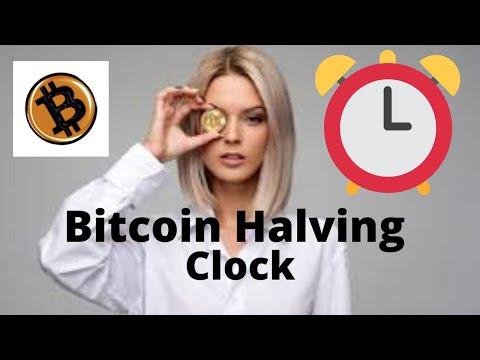 #BITCOIN HALVING COUNTDOWN CLOCK 2020