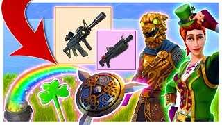 NEW FORTNITE BATTLE ROYALE SAINT PATRICKS DAY UPDATE! NEW GUNS, OUTFITS, BLING, PICKAXES AND EMOTES!