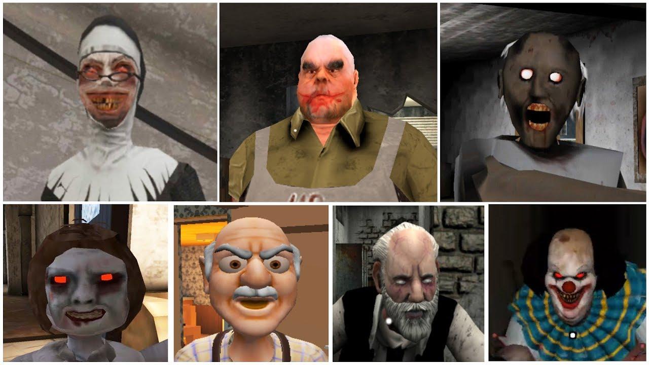 Escape Endings | Granny*Evil Nun*Mr.Meat*Dread Teacher*IT Clown*Erich Sann*Grandpa And Granny