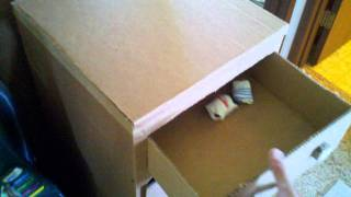 Awesome Childrens Cardboard Dresser Eco Friendly
