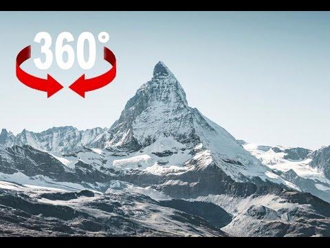 Flight over the Matterhorn I Swiss Alps I 360 video