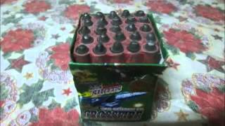 CrossFire 25 Shots Wirth Crackling Tail By:Diamond Fireworks,,Testing:2..