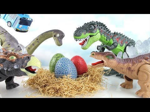 Whose Dinosaur eggs? Jurassic World Surprise Dinosaurs egg! Fun Toy Microwave Oven! 공룡 알 부화