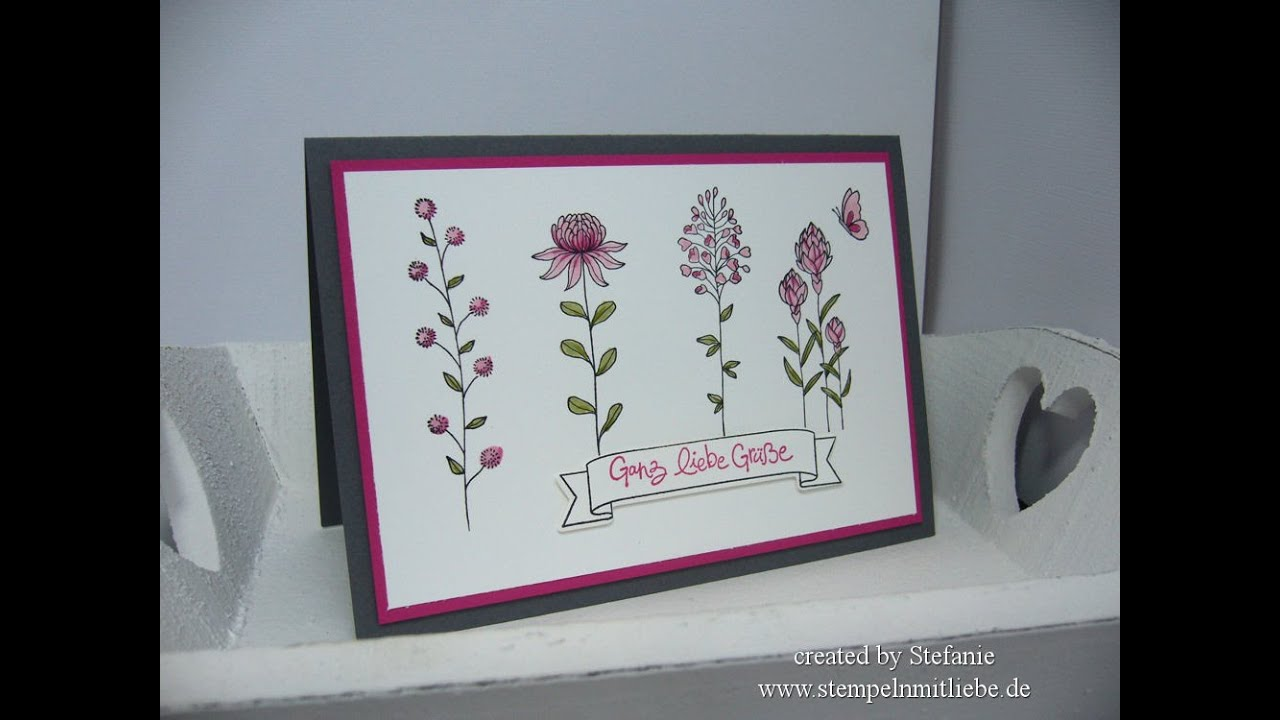 Stampin' Up Karte / Anleitung mit Flowering Fields ...