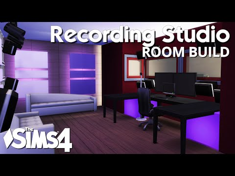 The Sims 4 Room Build - Recording Studio