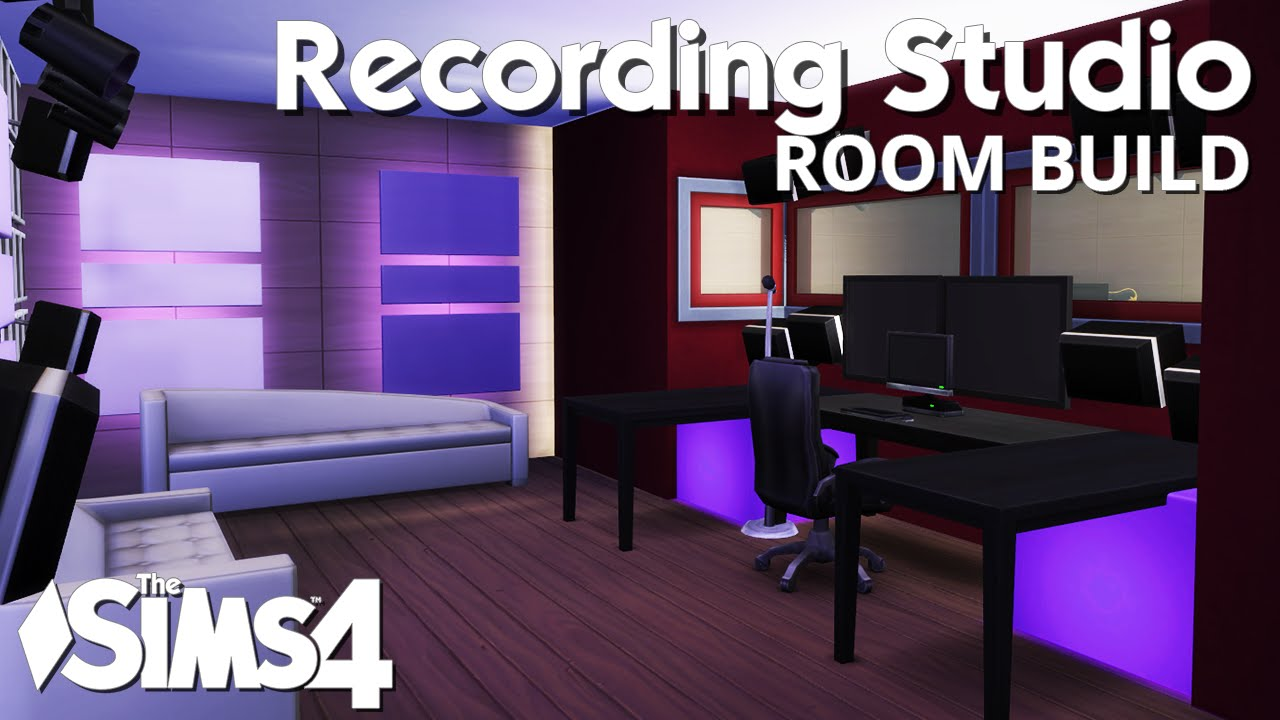 The sims 4 room build recording studio youtube