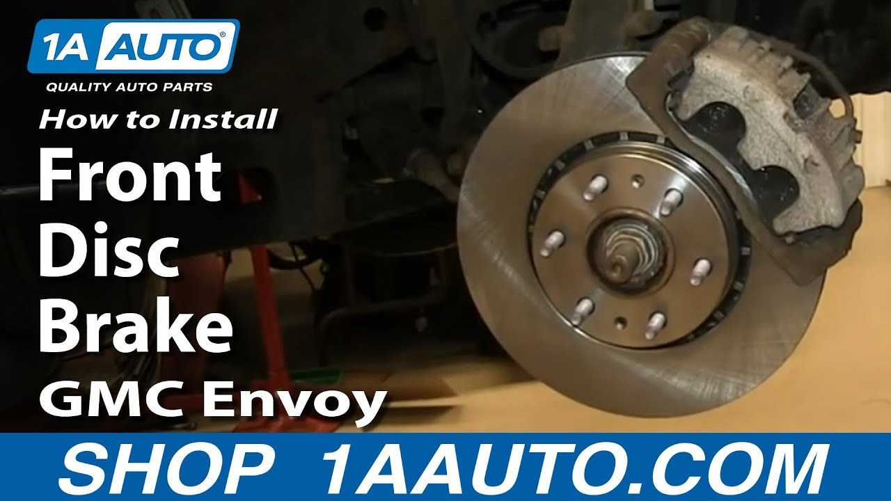 hight resolution of how to install do a front disc brake job 2002 09 gmc envoy and xl xuv youtube