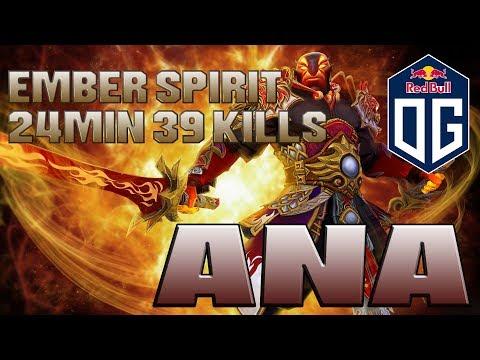 Ana KILLING MACHINE THREE TIME RAMPAGE Ember Spirit Dota 2 Gemeplay