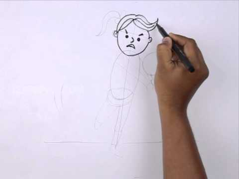 How To Draw Volleyball Player Youtube