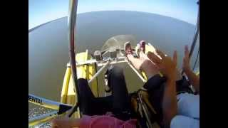 flying over gulf shores open cockpit style
