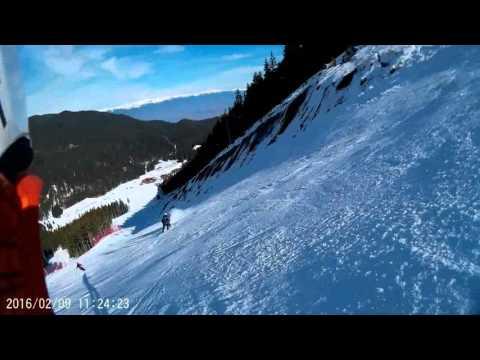 SJCAM Sj7000 Bansko  2016 - Skiing On Black Slope Nr. 9 (ALBERTO TOMBA)