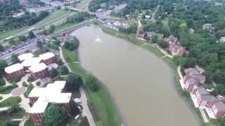 JMU football Stadium James Madison University Harrisonburg Virginia Aerial View