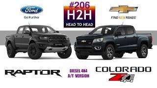 H2H #206  Ford RANGER RAPTOR vs Chevrolet COLORADO Z71