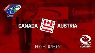 HIGHLIGHTS: Canada v Austria - World Mixed Doubles Curling Championship 2018