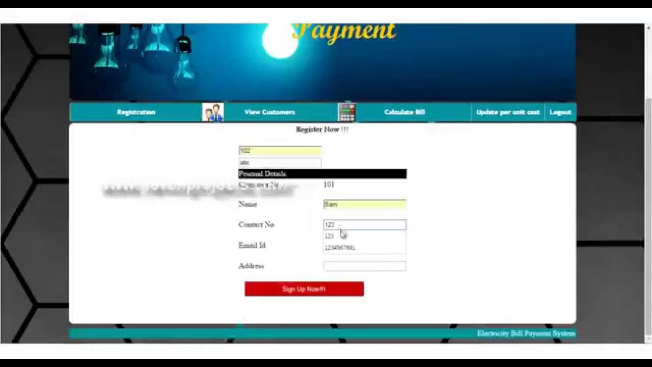Electricity Online Bill Payment Project Youtube