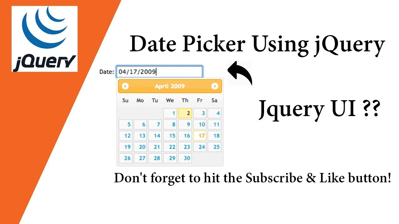 Date Picker Using jQuery 🗓🗓🗓 💡 Very Simple Way 💡