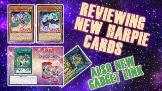 NEW HARPIE CARDS REVIEW! & GADGET LINK! (Yu-Gi-Oh! News)