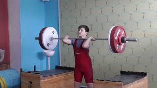 Пряничников Максим, 10 лет, вк 56 Толчок 45 кг на 2 раза  2 подхода
