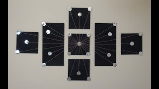 DIY: Seven Piece Canvas Foil Wall Art Decor
