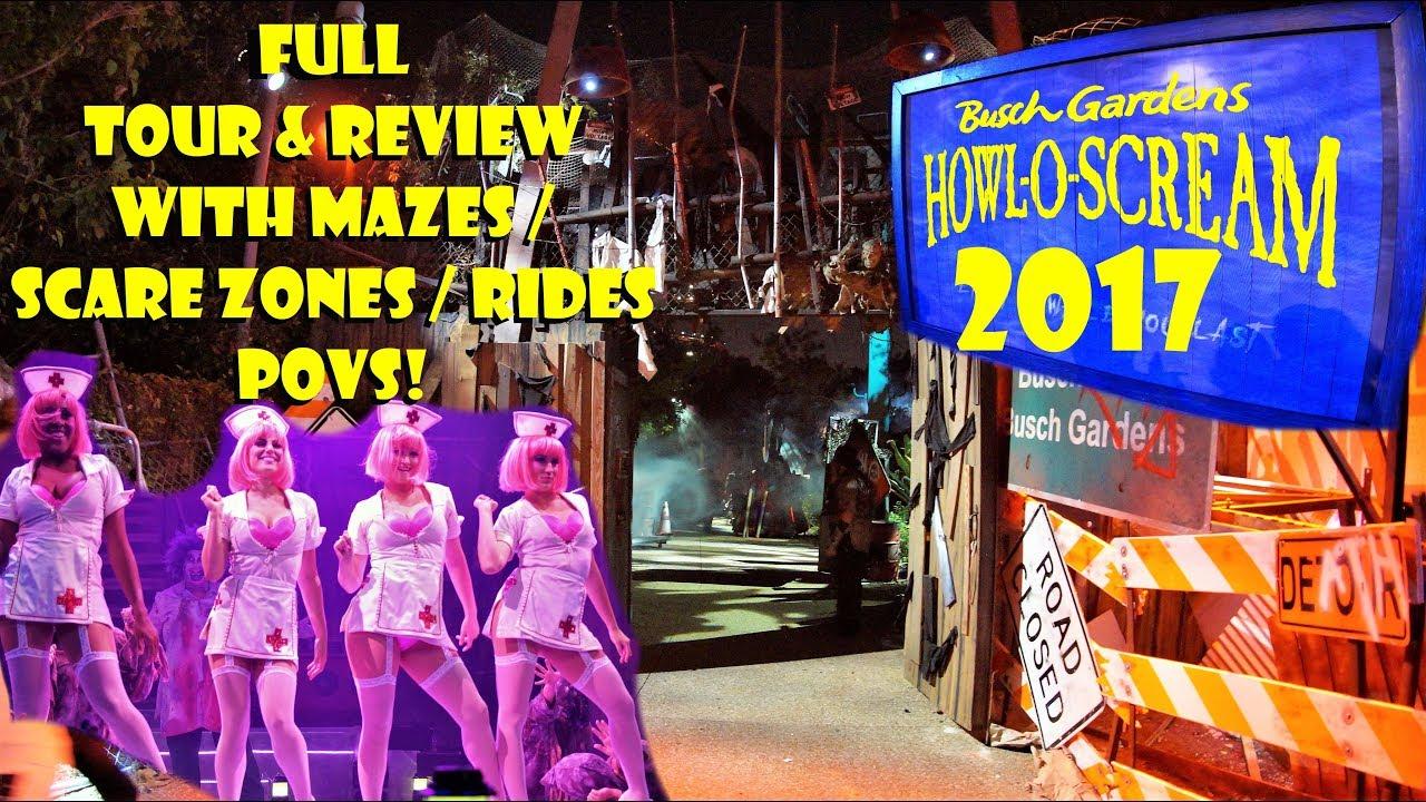 Howl O Scream 2017 Full Tour Review Busch Gardens
