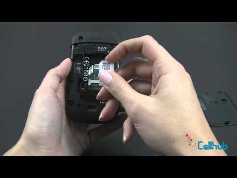 BlackBerry Curve 9300 Install Sim Card and Battery