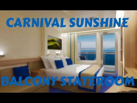Carnival Sunshine Balcony Stateroom Tour 2018