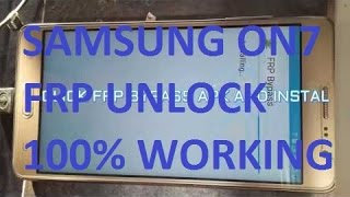 Samsung SM G600FY On7 Google account frp bypass new solution 2017