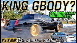 $20,000 GBODY GRUDGE RACE! The Black Blur VS Silverback Gorilla Gbody Title Race