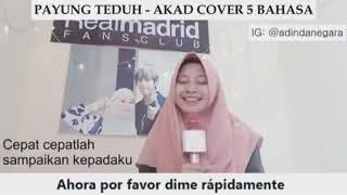 Video Cover Lagu Akad Payung Teduh 5 BAHASA download MP3, 3GP, MP4, WEBM, AVI, FLV Agustus 2018