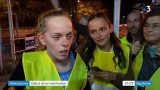 Opération péage gratuit jeudi soir à Pau, 1e action des gilets jaunes contre la hausse des taxes