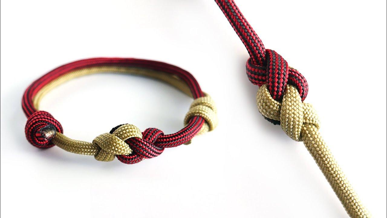 how to make a two color eternity knot paracord bracelet adjustable friendship bracelet youtube. Black Bedroom Furniture Sets. Home Design Ideas