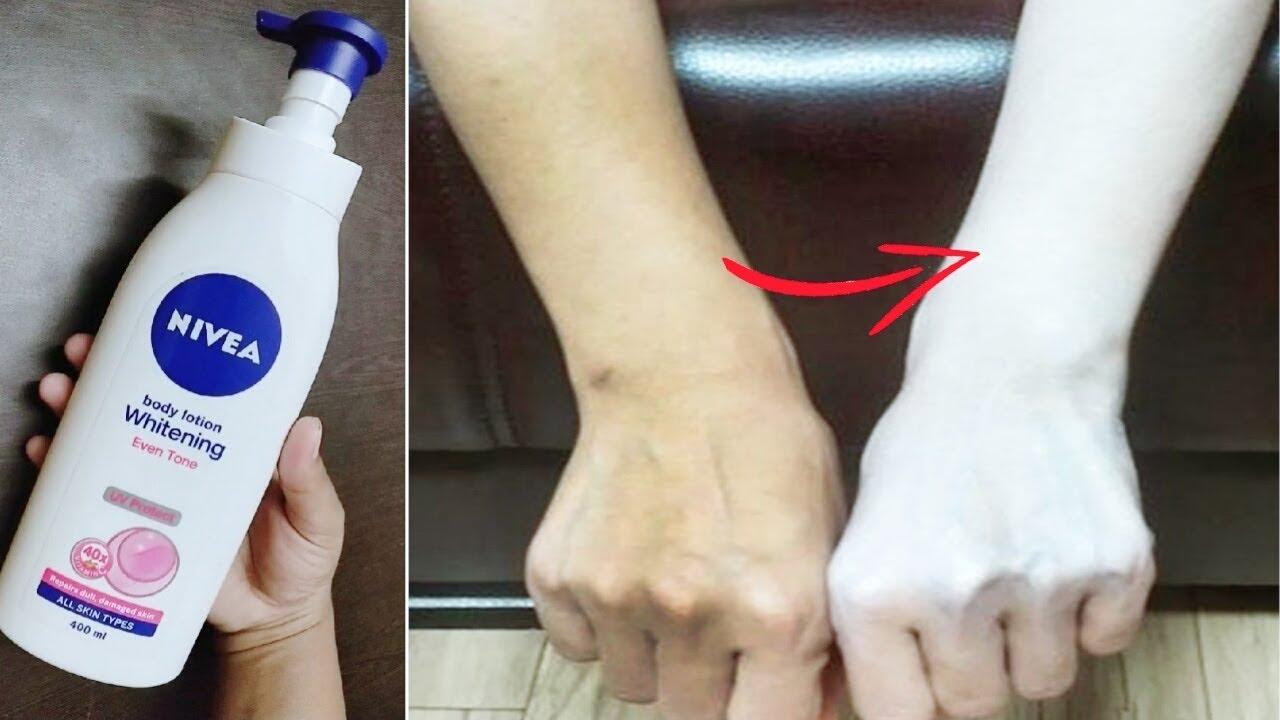 Nivea Whitening Body Lotion Review Skin Whitening Fair Skin Full Body Whitening Youtube