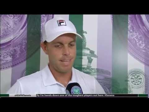 Sam Querrey d. Novak Djokovic Interview - Wimbledon 2016 R3
