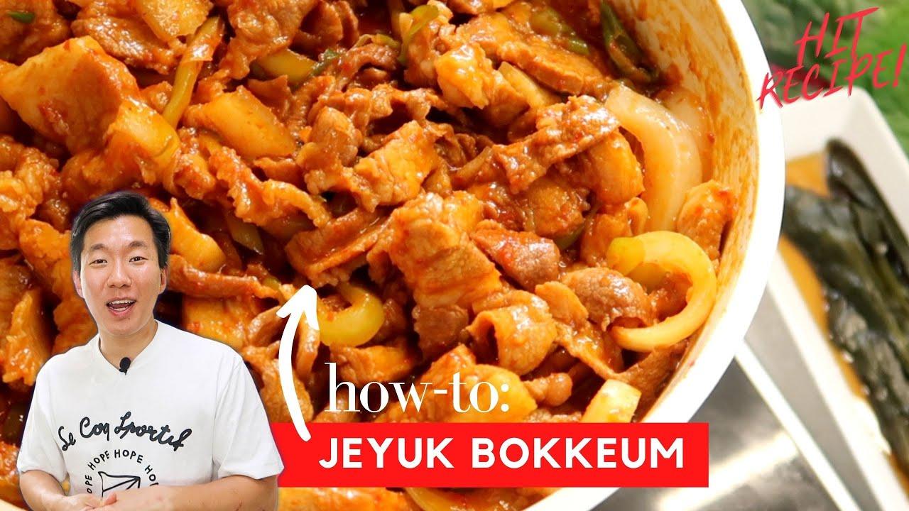 How to: Classic Jeyuk Bokkeum | Korea's Spicy Stir-Fried Pork!