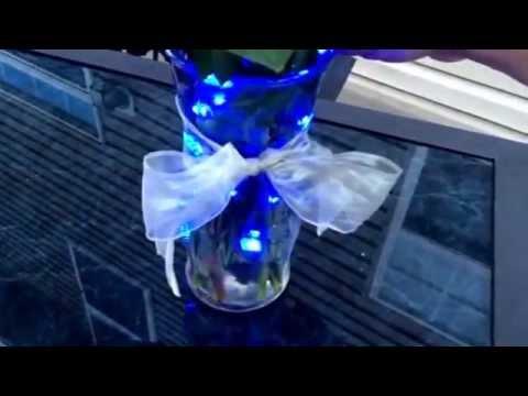 Diy Flower Vase With Submersible Led Lights Youtube