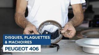Peugeot 406 - Changer les disques, mâchoires et plaquettes de frein arrières