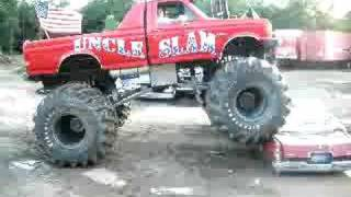 boyfriend crushes ex s car with monster truck