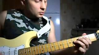 Как играть на гитаре.AC DC-Thunderstruck.