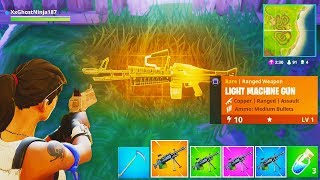 "NEW ""LMG"" GAMEPLAY in Fortnite Battle Royale! - How To Unlock NEW ""Light Machine"" Weapon in Fortnite"