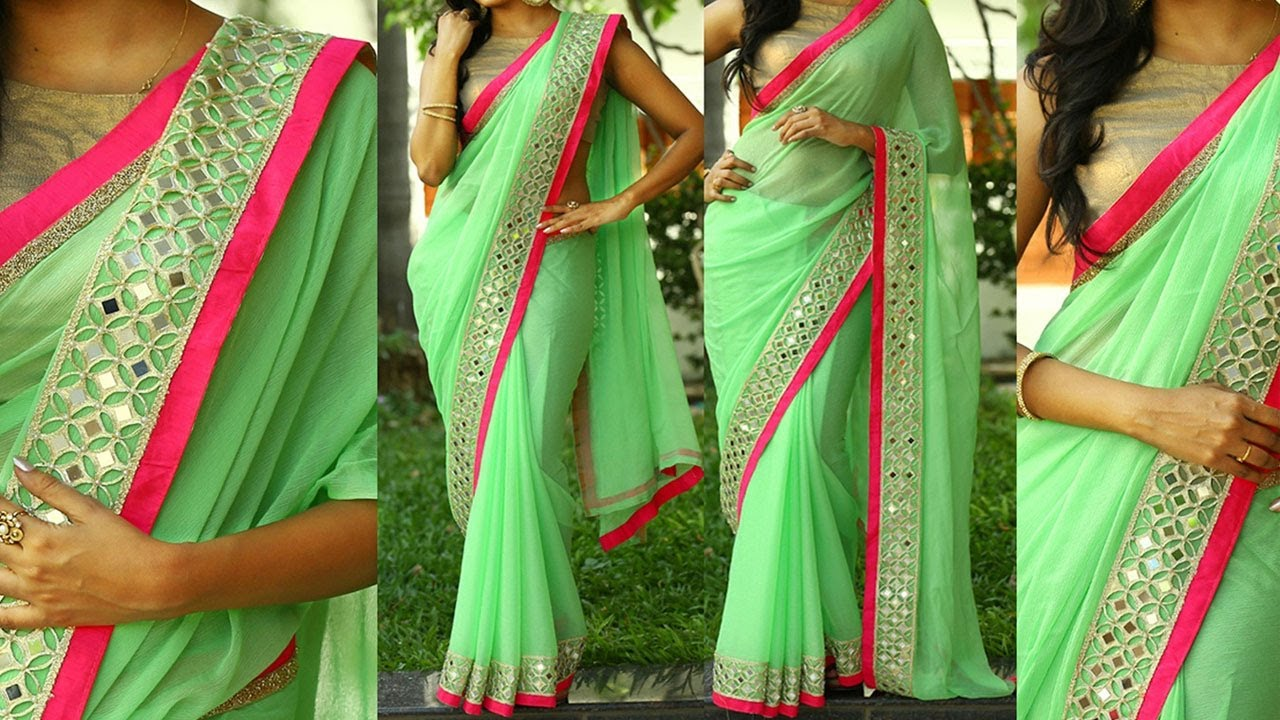 Image result for 5 Gorgeous Ways to Wear Designer Saree with Thin Perfect Pleats for Party like a Bollywood Celebrity - Video Tutorial