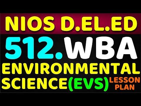 NIOS D.EL.ED 512 WBA (WORKSHOP BASED ACTIVITIES) ENVIRONMENTAL SCIENCE (EVS) LESSON PLAN